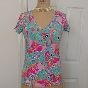 "Lilly Pulitzer ""Michele"" T-shirt."